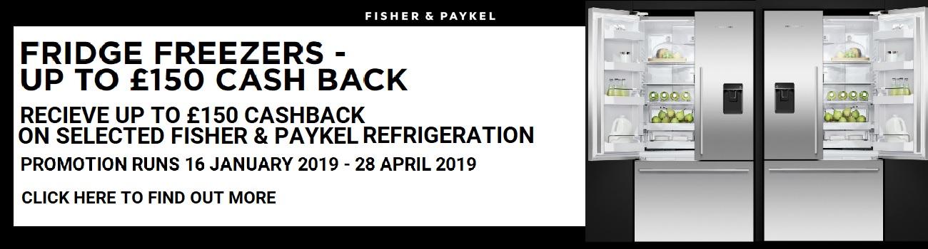 Fisher & Paykel Fridge Freezer Cashback 2019