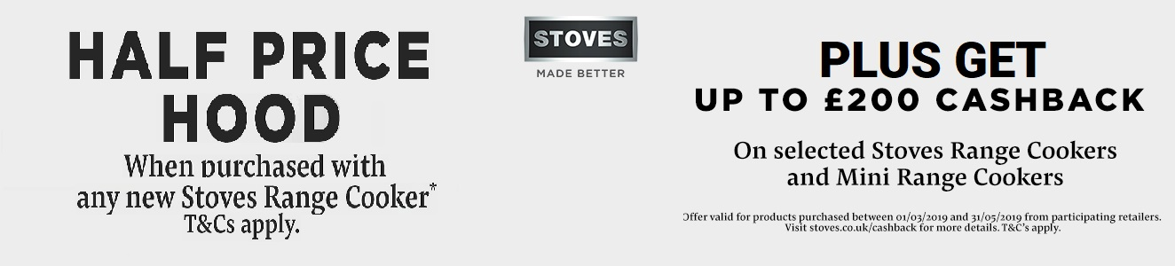 Stoves Half Price Hood Offer 2019
