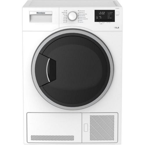 Blomberg LTK28021W Condenser Tumble Dryer, 8kg Capacity, B Energy