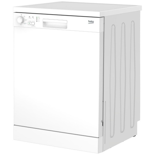 Beko DFN04C11W Freestanding Full Size Dishwasher, 13 Place Settings, A+ Energy