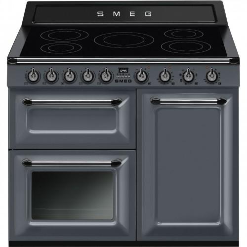 Smeg TR103IGR 100cm Victoria Slate Grey Induction Range Cooker