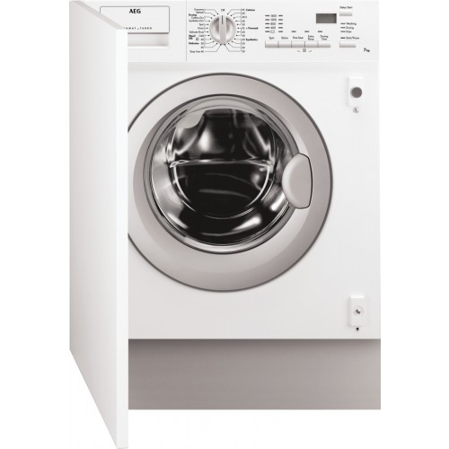 AEG L61472WDBI Built In Washer Dryer, 7kg Wash, 4kg Dryer Capacity, 1400 Spin, C Energy