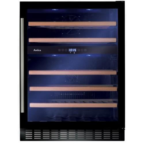Amica AWC601BL Black Wine Cooler, 60cm, B Energy