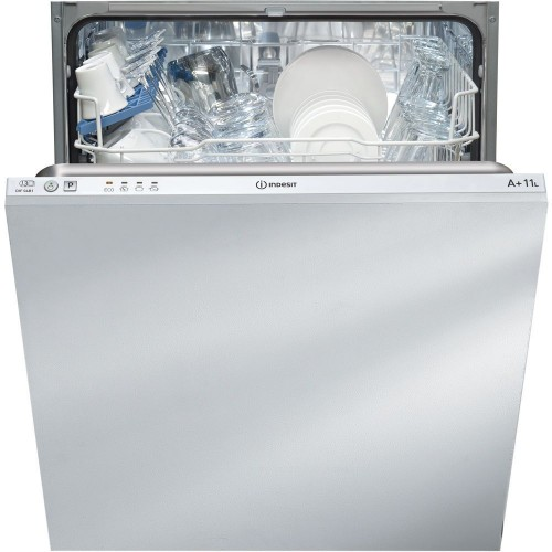 Indesit DIF04B1 Built In Full Size Dishwasher, 13 Place Settings, A+ Energy