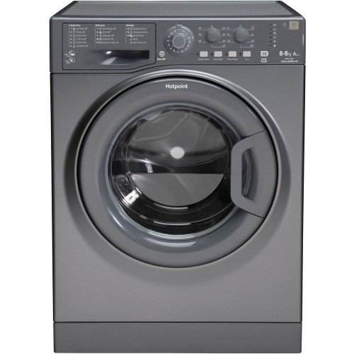Hotpoint WDAL8640G Washer Dryer, 8kg Wash, 6kg Dryer Capacity, 1400 Spin, A Energy