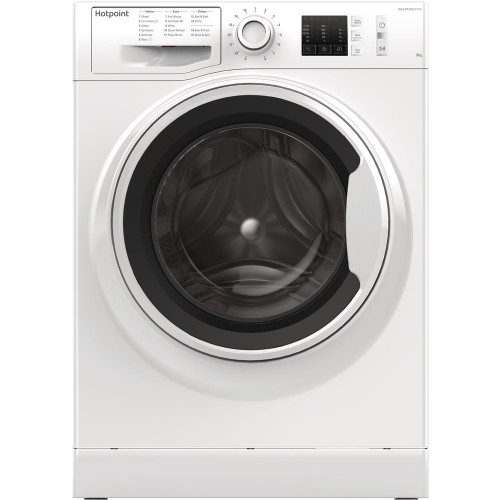 Hotpoint NM10944WW Washing Machine, 9kg Capacity, 1400 Spin, A+++ (-10%) Energy