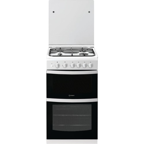 Indesit ID5G00KCW Gas Double Oven, 50cm, A+ Energy
