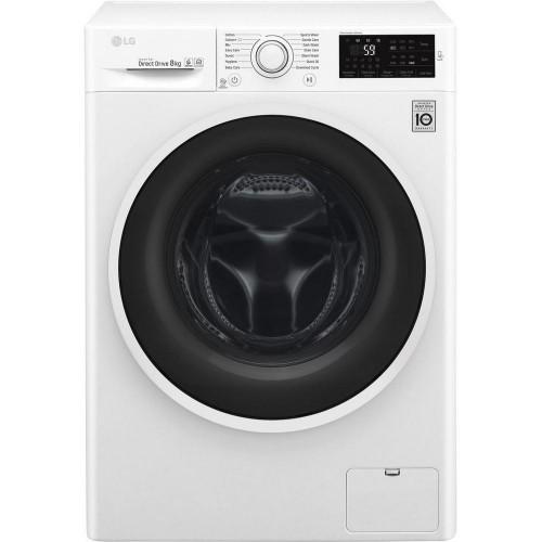 LG F4J608WN Washing Machine, 8kg Wash, 1400 Spin, A+++ Energy