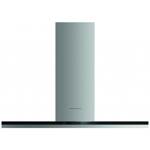Fisher & Paykel HC120BCXB2 Chimney Hood, 120cm, Stainless Steel with Black Glass