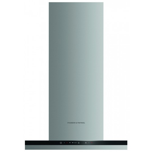 Fisher & Paykel HC60BCXB2 Chimney Hood, 60cm, Stainless Steel with Black Glass