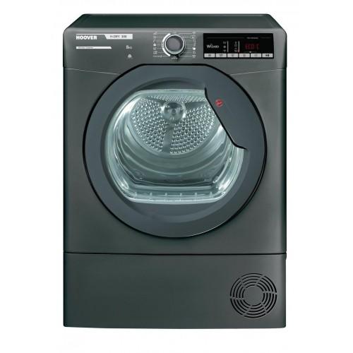 Hoover HLXC8TRGR Condenser Tumble Dryer, 8kg Capacity, B Energy
