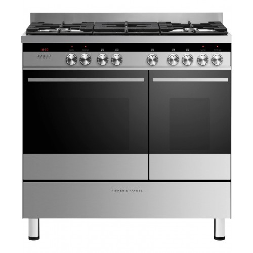Fisher & Paykel OR90L7DBGFX1 Dual Fuel Range Cooker, 90cm, B Energy