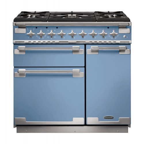 Rangemaster Elise 90cm Dual Fuel China Blue Range Cooker