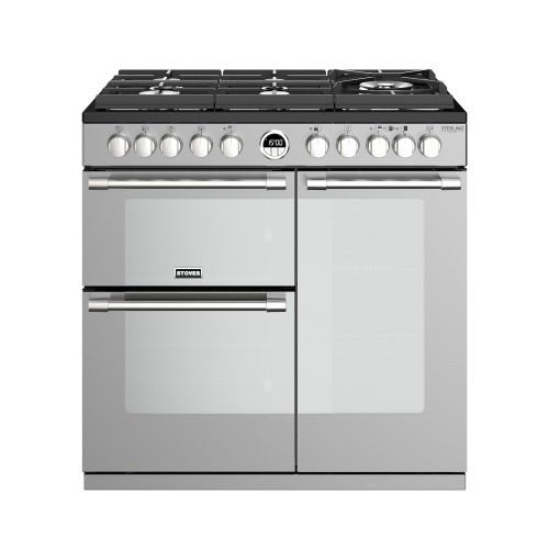 Stoves Sterling Deluxe S900DF GTG, 90cm, Dual Fuel, Stainless Steel Range Cooker