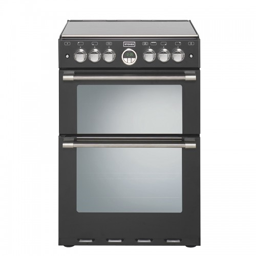 Stoves Sterling 600E Black Electric Double Oven, 60cm, A Energy