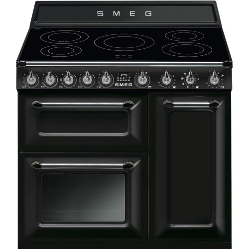 Smeg TR93IBL 90cm Victoria Black Induction Range Cooker