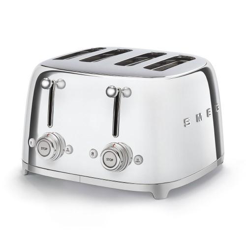 Smeg TSF03SSUK Chrome 4 Slice Toaster