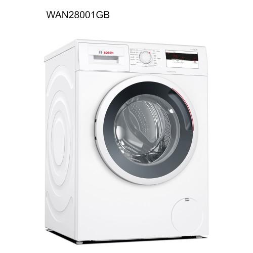 Bosch WAN28001GB Washing Machine 7kg, 1400 Spin, A+++ Energy