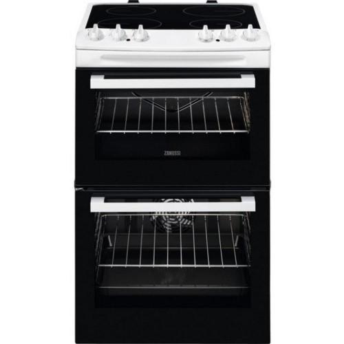 Zanussi ZCV46050WA Electric Double oven, 55cm, A Energy