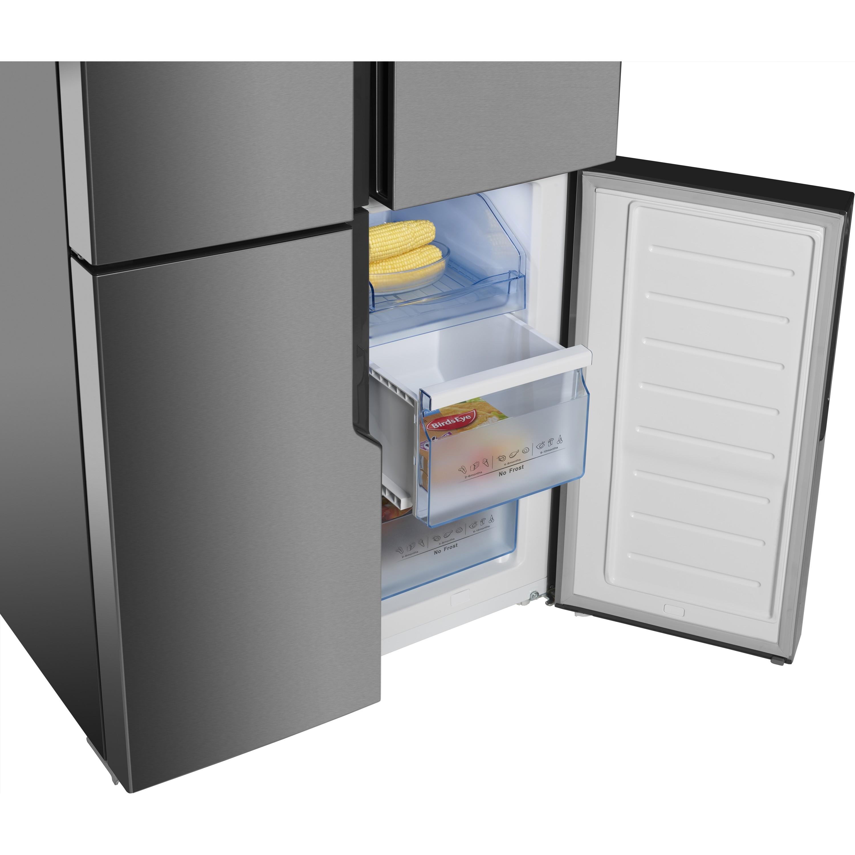 Hisense RQ560N4WC1 American Style Fridge Freezer, 80cm, Frost Free, A+  Energy