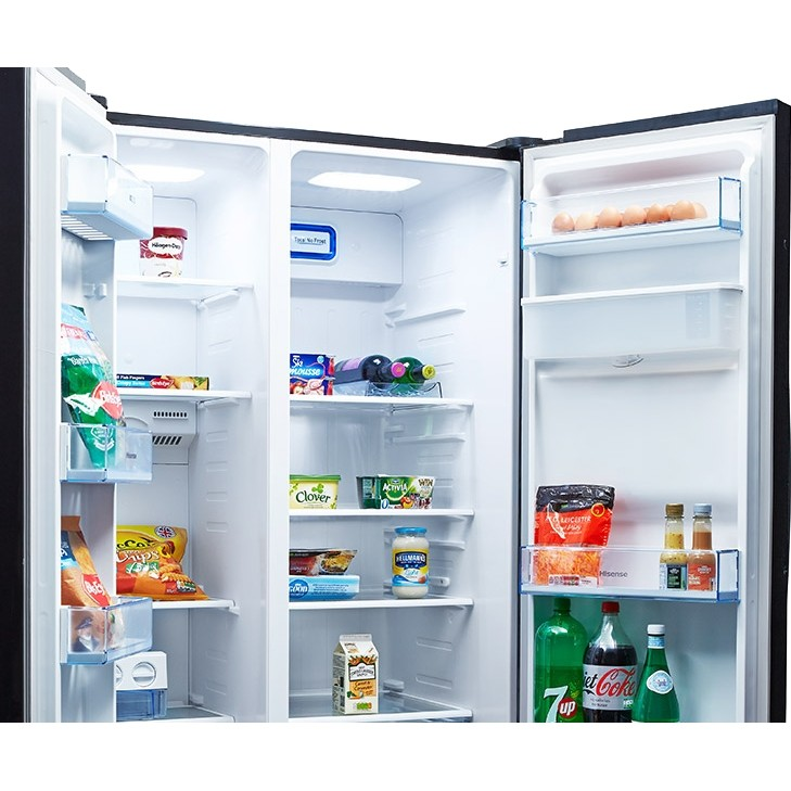 Hisense RS723N4WB1 American Style Fridge Freezer, 90cm