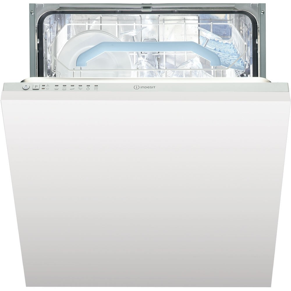 Indesit DIF16B1 Built In Full Size Dishwasher, 13 Place Settings, A+ Energy