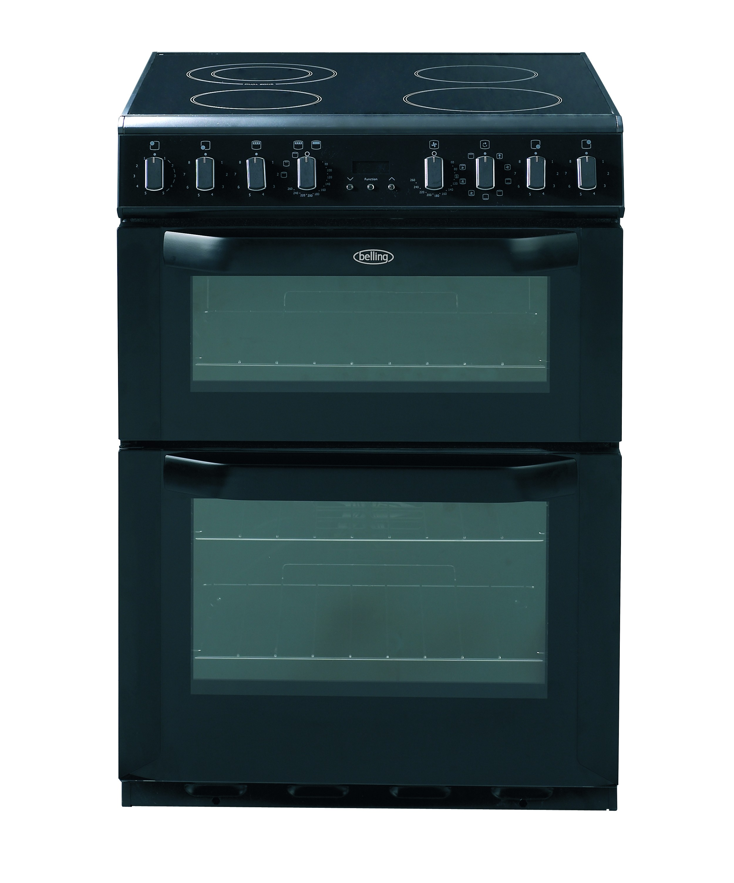 Kitchen Doors Uckfield: Belling FSE60MF Black Electric Double Oven, 60cm, A Energy