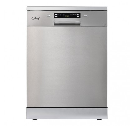 Belling FDW150 Stainless Steel Freestanding Full Size Dishwasher, 15 Place Settings, A+++ Energy