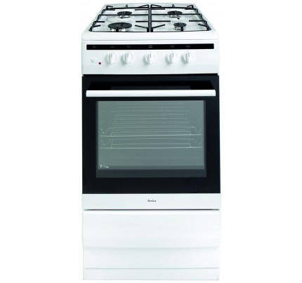 Amica 508GG5W Gas Single Oven, 50cm, A Energy