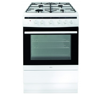 Amica 608GG5MSW Gas Single Oven, 60cm, A Energy
