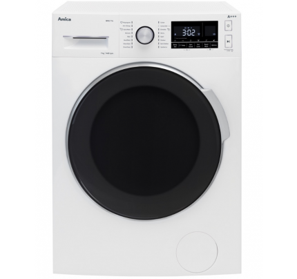 Amica WMS714 Washing Machine, 7kg Capacity, 1400 Spin, A+++ Energy