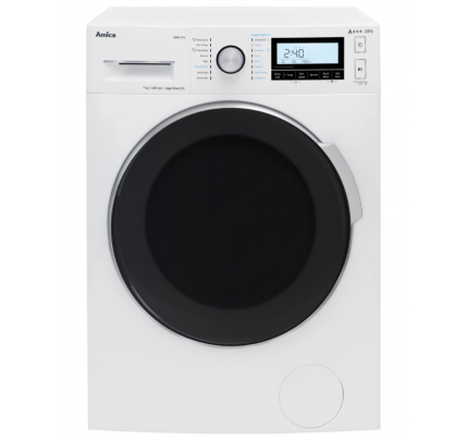 Amica WMS914 Washing Machine, 9kg Capacity, 1400 Spin, A+++ Energy