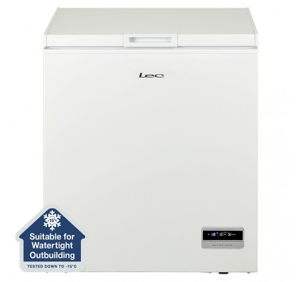 Lec CF150LW MK2 Chest Freezer, 73cm, Manual Defrost, A+ Energy