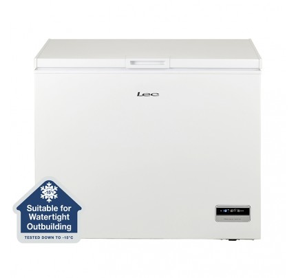Lec CF250LW MK2 Chest Freezer, 98.5cm, Manual Defrost, A+ Energy