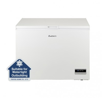 Lec CF300LW MK2 Chest Freezer, 111.5cm, Manual Defrost, A+ Energy