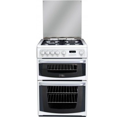 Hotpoint CH60GCIW Catalytic, Gas Double Oven, 60cm, A+ Energy