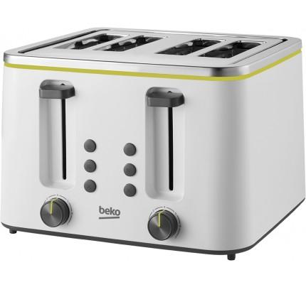 Beko TAM4341W White Beko New Line 4 Slot Toaster
