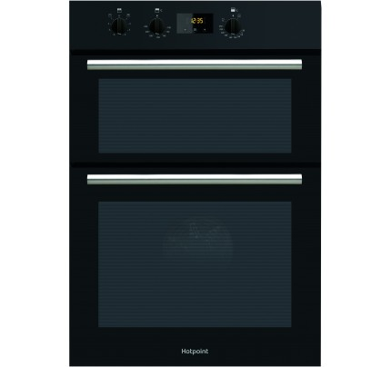 Hotpoint DD2540BL Enamel Interior, Double Fan Oven, Electric, A Energy