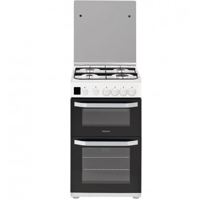 Hotpoint HD5G00CCW Catalytic, Gas Double Oven, 50cm, A+ Energy