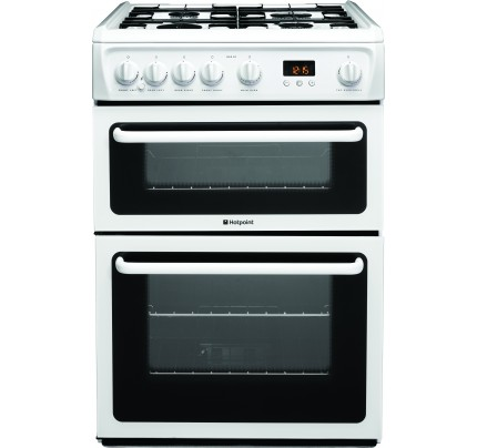 Hotpoint HAG60P Catalytic, Gas Double Oven, 60cm, A+ Energy