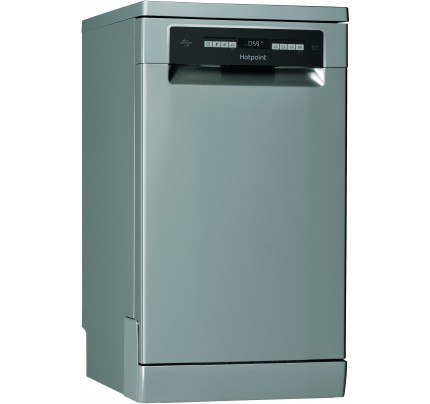 Hotpoint HSFO3T223WX Freestanding Slimline Dishwasher, 10 Place Settings, A++ Energy