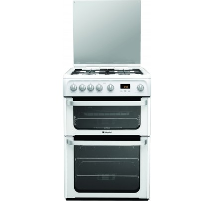 Hotpoint HUG61P Catalytic, Gas Double Oven, 60cm, A+ Energy