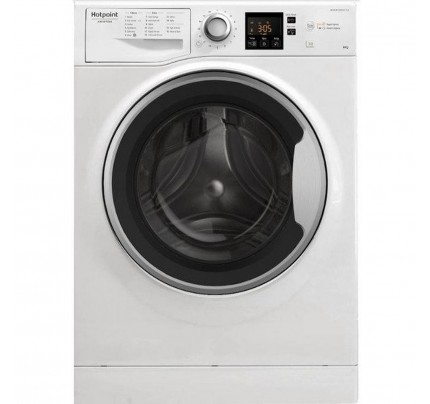 Hotpoint NSWM963CWS Washing Machine, 9kg Capacity, 1600 Spin, A+++ Energy