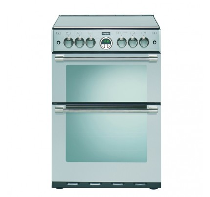 Stoves Sterling 600G Stainless Steel Gas Double Oven, 60cm, A Energy