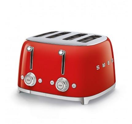 Smeg TSF03RDUK Red 4 Slice Toaster